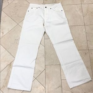 J. Crew Men's White Denim